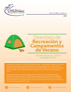 Summer Camps and Recreational Directory (Spanish)